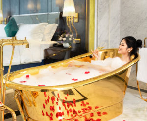 Golden Bathtub Indulgence Package